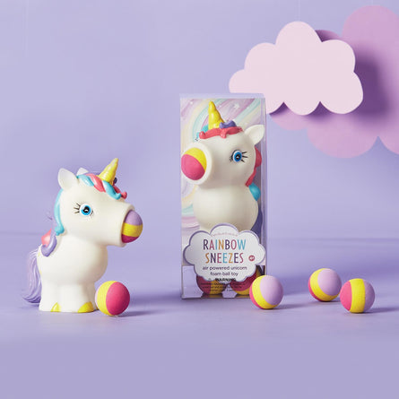 Rainbow Sneezes Unicorn Ball Toy