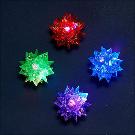 Flashing Star Spiky LED Bounce Ball