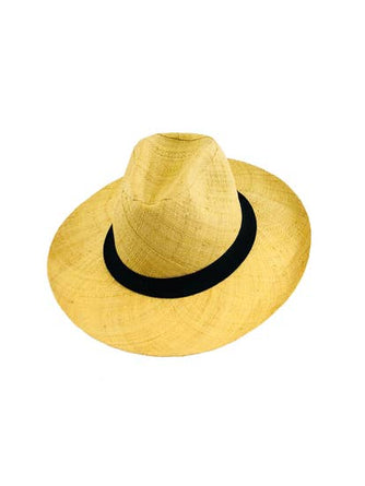 Panama Natural Straw with Black Band Hat