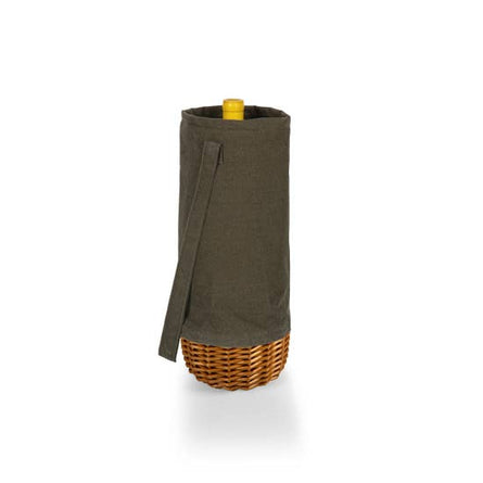 Khaki Willow Wine Insulated Basket Tote