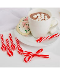 S/6 Edible Peppermint Swirl Candy Spoons