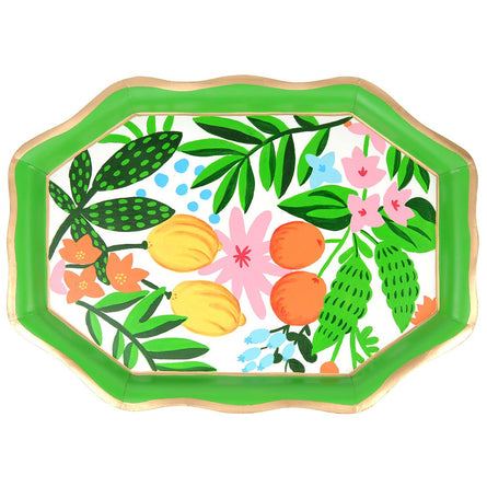 "Fruit Floral 22"" Tea Tray"