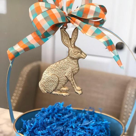 Rabbit Basket Ornament