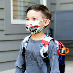 Super Hero Dude Kid Face Mask