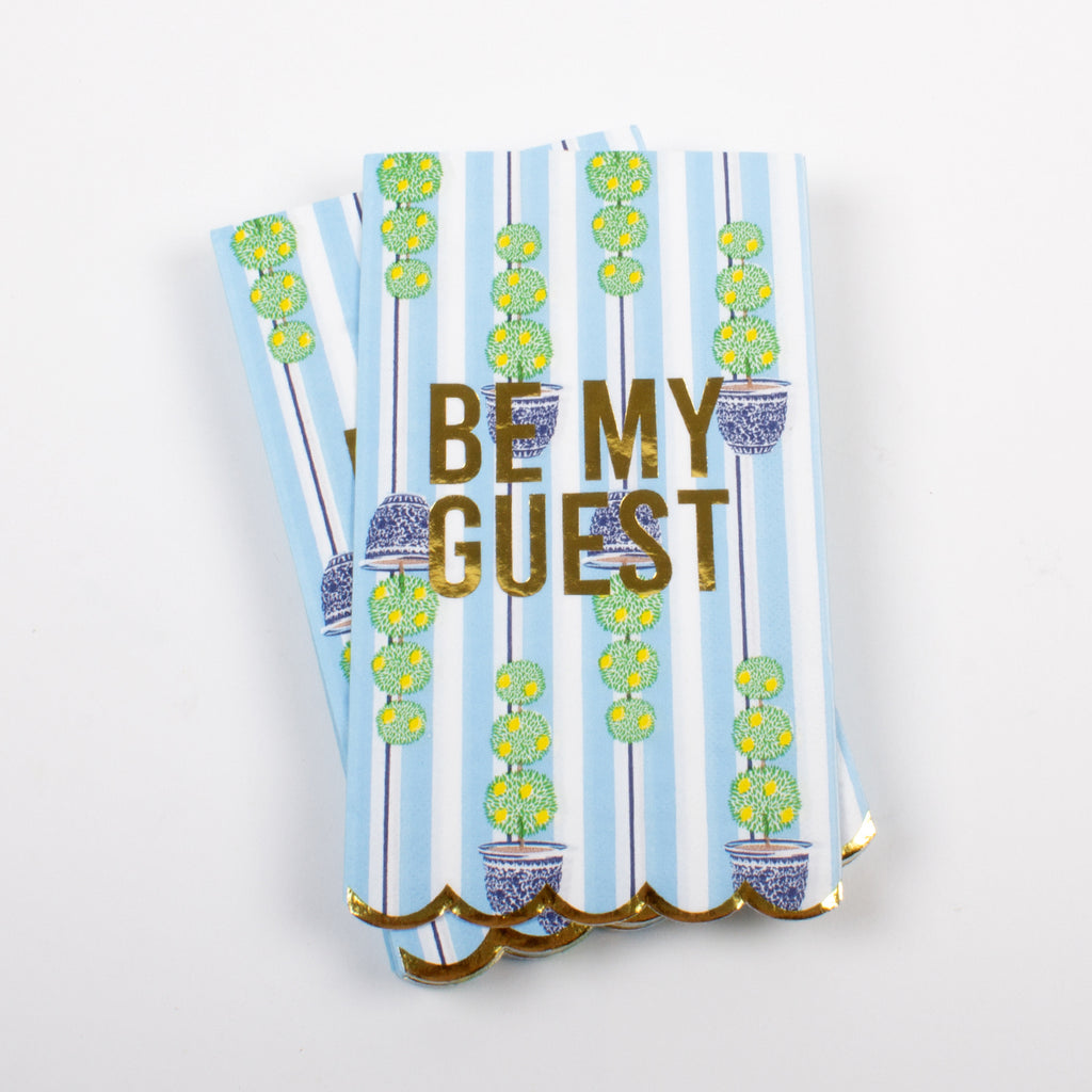 "Topiary ""Be My Guest"" Guest Napkin"