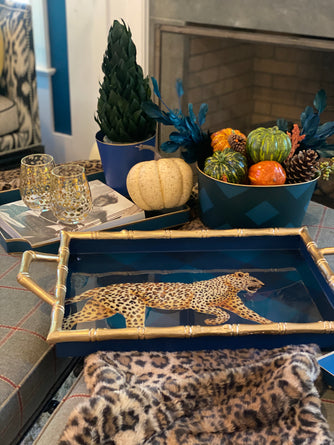 PRESELL: Leopard Sussex 14 x 20 Luxe Tray