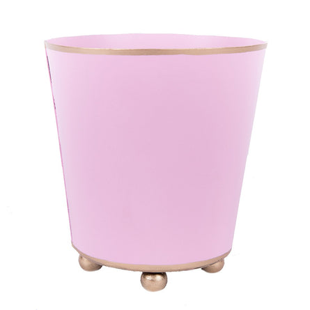 "4"" Round Light Pink Cachepot"