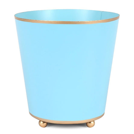 "6"" Round Light Blue Cachepot"