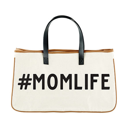 #Momlife Canvas Tote
