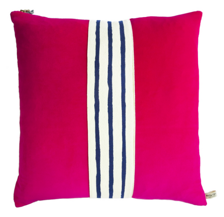 Hot Pink Velvet Pillow