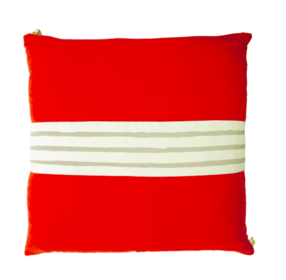 Sunburst Orange Velvet Pillow
