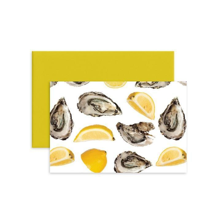 World Is Oyster Folded Notecard Set/12