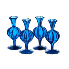 Cobalt Blue Glass Bud Vase