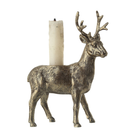 "Deer 6.5"" Taper Candle Holder"