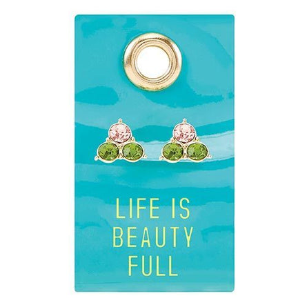 Life Is Beauty Full Gemstone Earrings