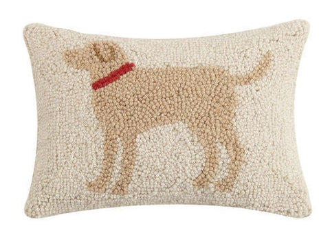 Yellow Lab Dog Hook Pillow