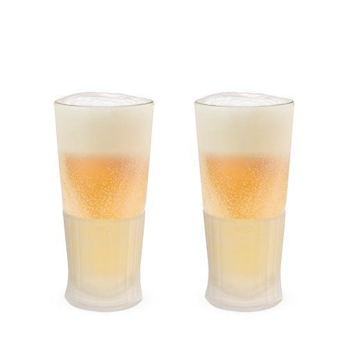 Glass Freeze Beer Glass Set of 2