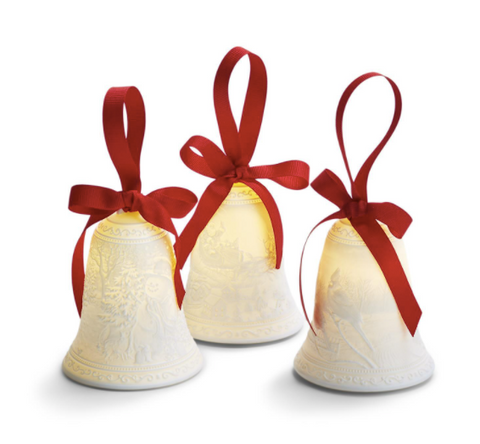White Christmas Bell Lights