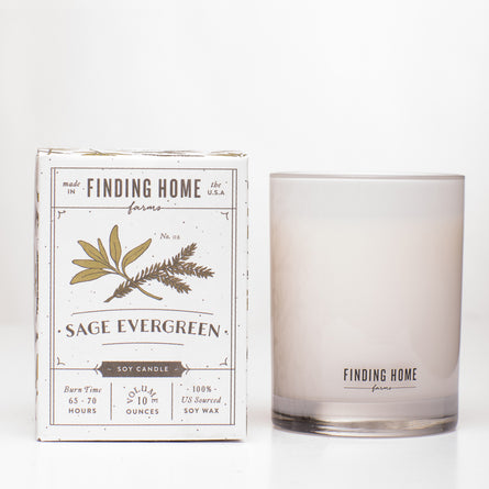 FH Sage Evergreen 10oz Boxed Candle