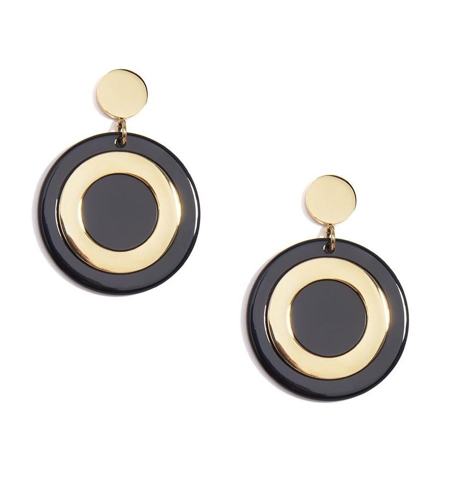 Black Tortoise Drop Earring
