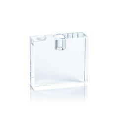 Rectangular Crystal Glass Taper Holder