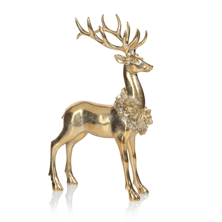 Standing Floral Wreath Deer