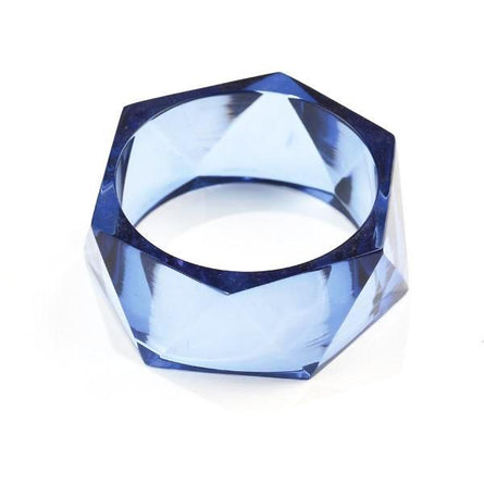 Lapis Lucite Faceted Bangle