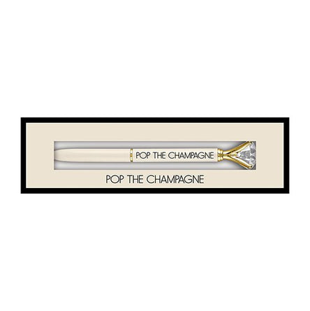 Pop The Champagne Boxed Pen Gift