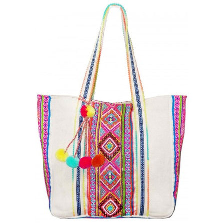 Aztec Beaded Multi Jacquard Bag