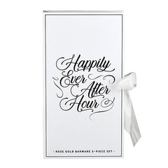 Happily Ever After Rose Gold Barware Gift Set