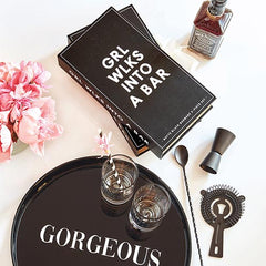 Girl Walks Into a Bar Cocktail Gift Set