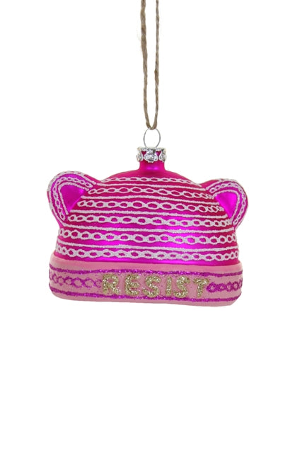 Pink Hat Ornament