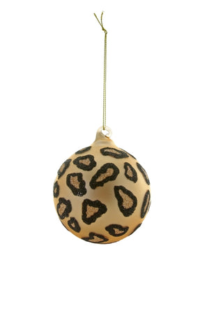Cheetah Print Bauble Ornament