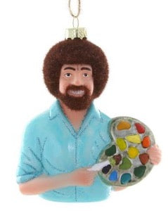 Bob Ross Happy Little Trees Ornament