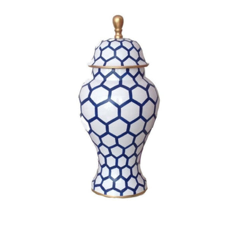 Small Blue Mesh Ginger Jar