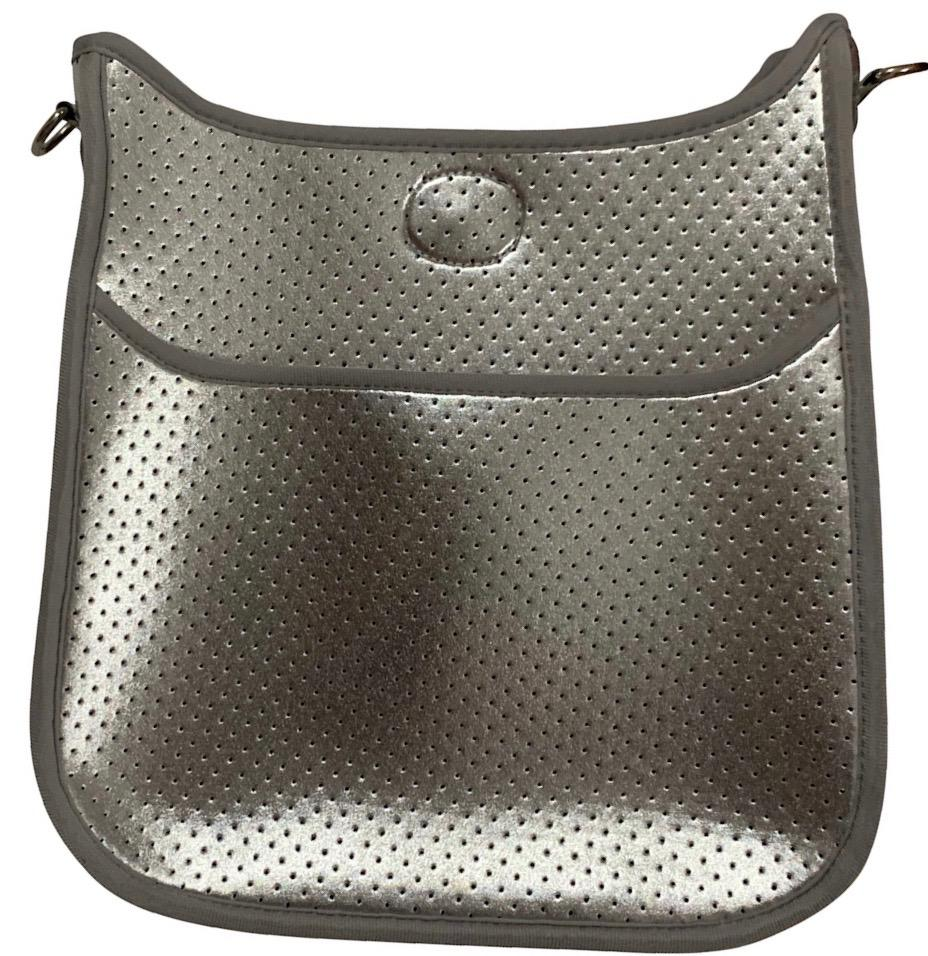 Silver Perforated Neoprene with Army Strap