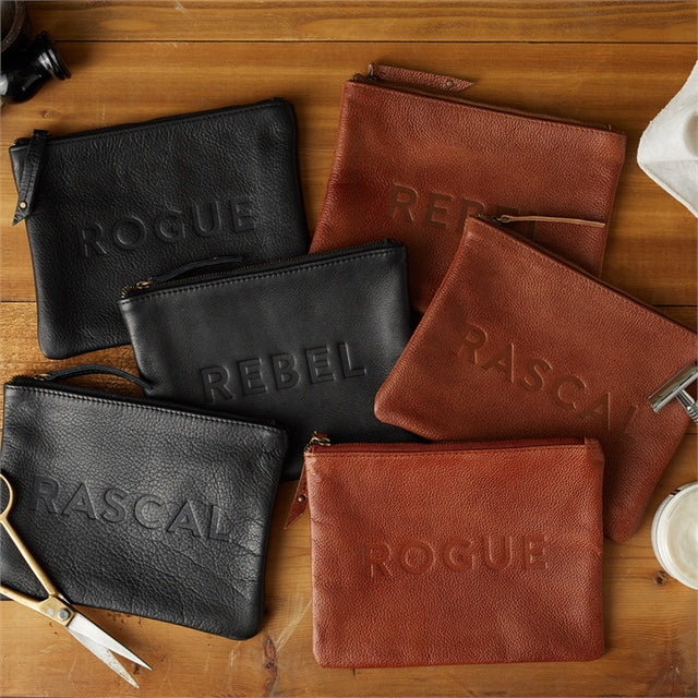 Leather Pouch with Saying