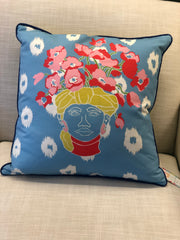 Freida Sky Blue Pillow