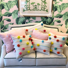 Square Pom Pom Pillow