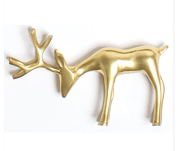 Medium Gold Reindeer Figure
