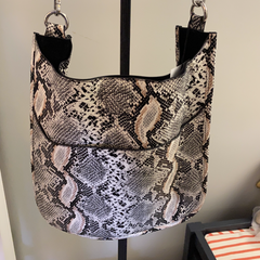 Faux Python Messenger w/ Adjustable Strap