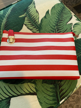 Florence Red & White Crossbody Clutch