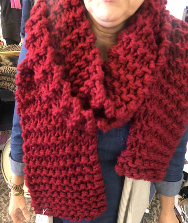 Oversized Chunky Scarf (Red)