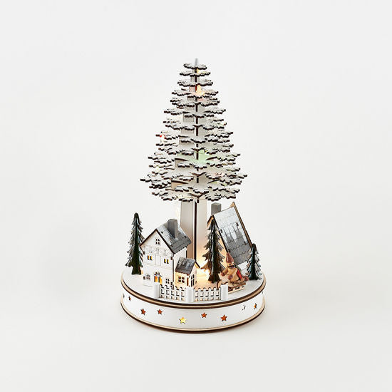 Holiday Town Tree Scene