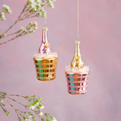 Champagne In Bucket Ornament