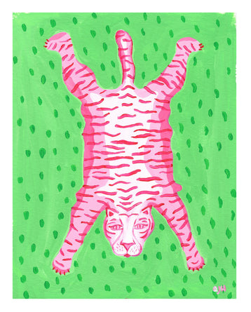 Jodi the Tiger Print by Willa Heart 8x10