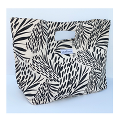 Sea Feather Black White Lilibridge Tote Bag