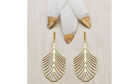 Palm Leaf Laser Cut Earrings