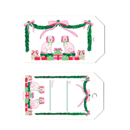Mariah & St. Nick Gift Tag Set of 10 by Willa Heart
