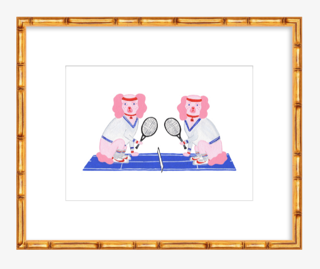 Martina & McEnroe Tennis Dog Print by Willa Heart 8 x 10